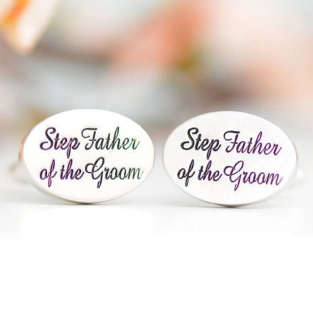 Step Father Of The Groom Cufflinks